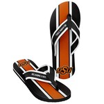 Forever Collectibles™ Men's Oklahoma State University 2016 Contour Stripe Flip-Flops