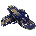 Forever Collectibles™ Adults' New Orleans Pelicans Gradient Big Logo Flip-Flops