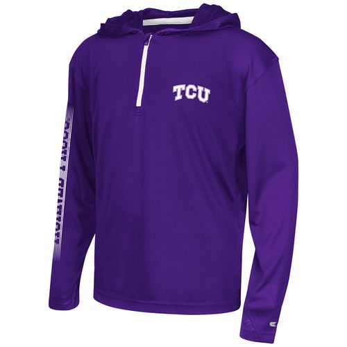 Colosseum Athletics™ Boys' Texas Christian University Sleet 1/4 Zip Hoodie Windshirt