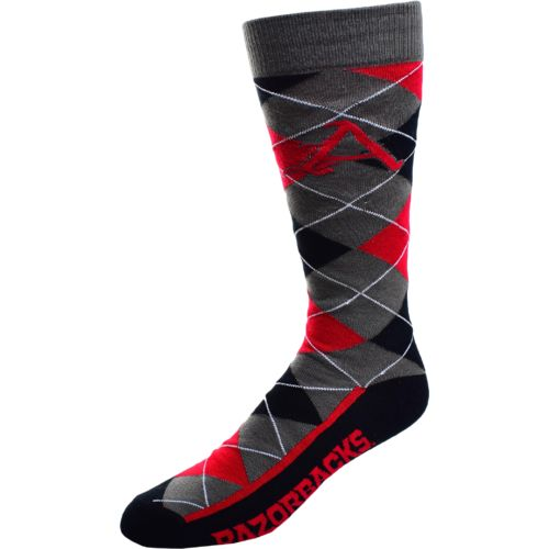 FBF Originals Men's University of Arkansas Argyle Zoom Dress Socks