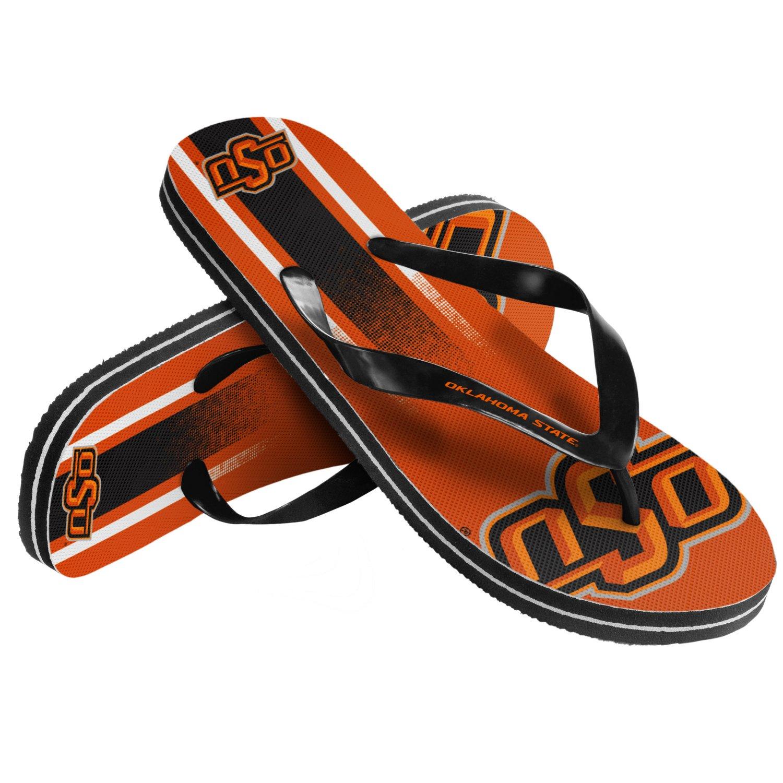 Forever Collectibles™ Kids' Oklahoma State University Wordmark Stripe Flip-Flops