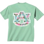 New World Graphics Women's Auburn University Floral T-shirt