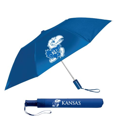 "Storm Duds Adults' University of Kansas 42"" Automatic Folding Umbrella"