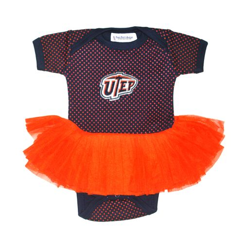 Two Feet Ahead Infant Girls' University of Texas at El Paso Pin Dot Tutu Creeper