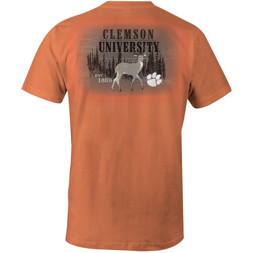 Image One Men's Clemson University Deer Slab Comfort Color T-shirt