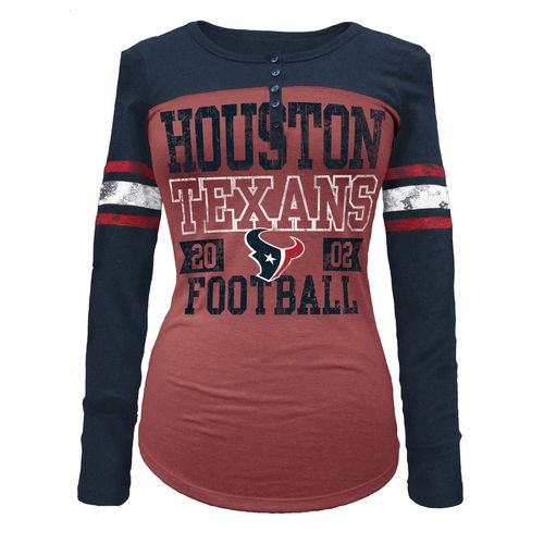 5th & Ocean Clothing Juniors' Houston Texans Long Sleeve Henley