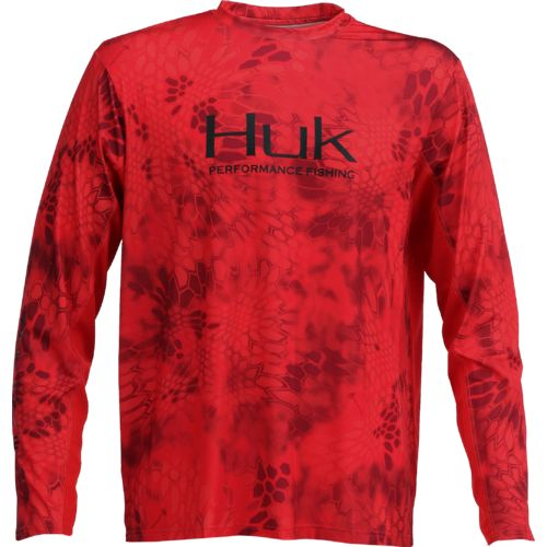 Display product reviews for Huk Men's Kryptek Solid Long Sleeve Icon T-shirt