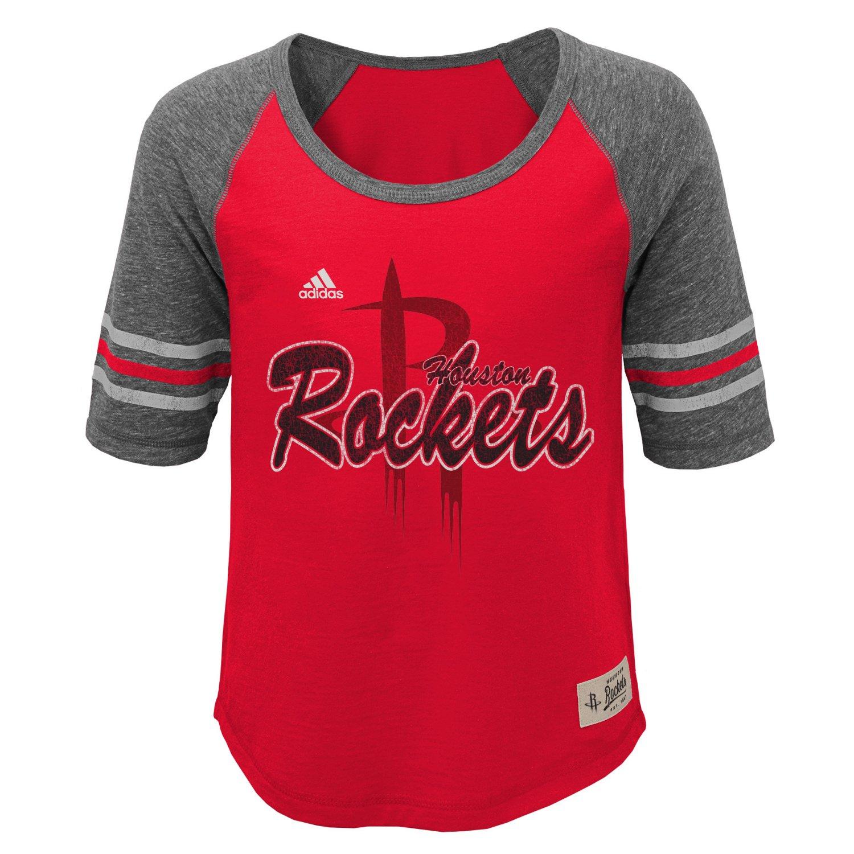 adidas™ Girls' Houston Rockets Hi-Lo T-shirt