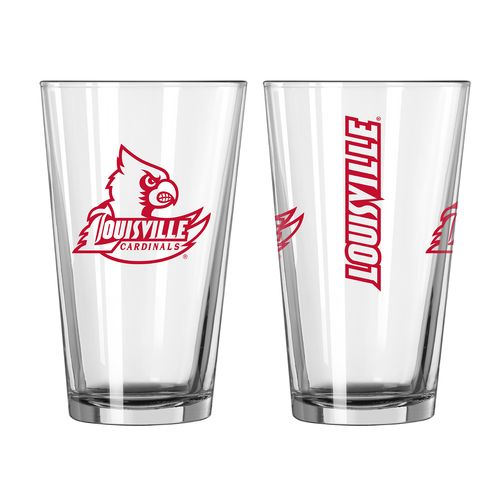 Boelter Brands University of Louisville Game Day 16 oz. Pint Glasses 2-Pack