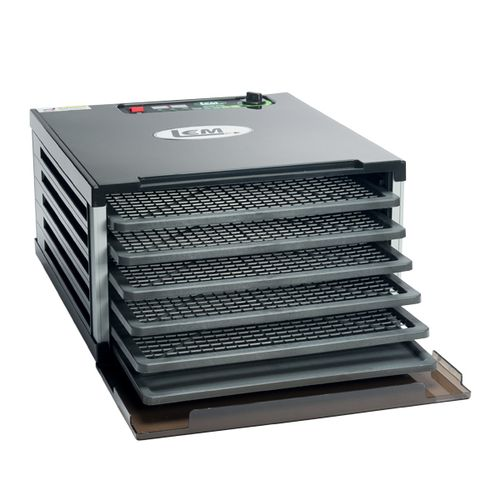 Display product reviews for LEM 5-Tray Single-Door Countertop Dehydrator
