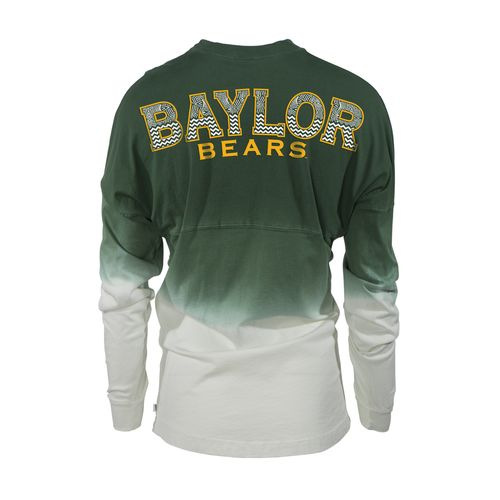 Venley Women's Baylor University Ombré Wash Long Sleeve T-shirt