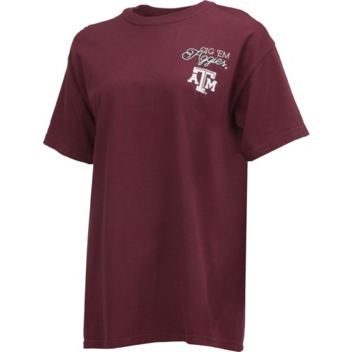 Image One Women's Texas A&M University Laces and Bows Comfort Color T-shirt - view number 2