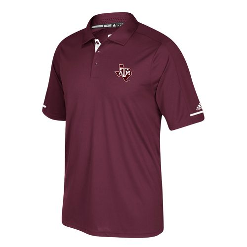 adidas Men's Texas A&M University climachill Polo Shirt