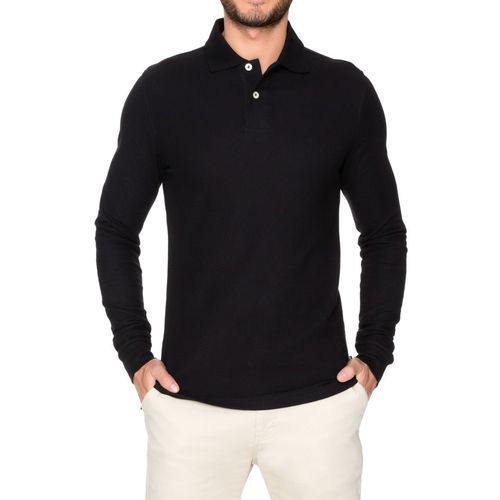 Lee Young Men's Modern Fit Long Sleeve Polo Shirt