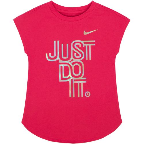 Nike Girls' Iridescent Just Do It Modern T-shirt