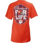 Three Squared Juniors' Clemson University Team For Life Short Sleeve V-neck T-shirt - view number 1