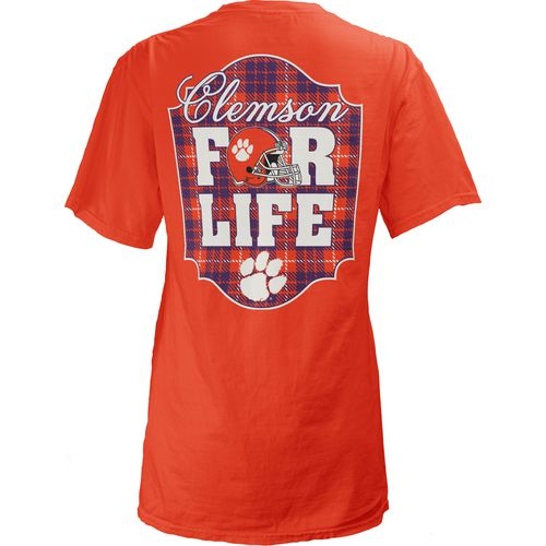 Three Squared Juniors' Clemson University Team For Life Short Sleeve V-neck T-shirt