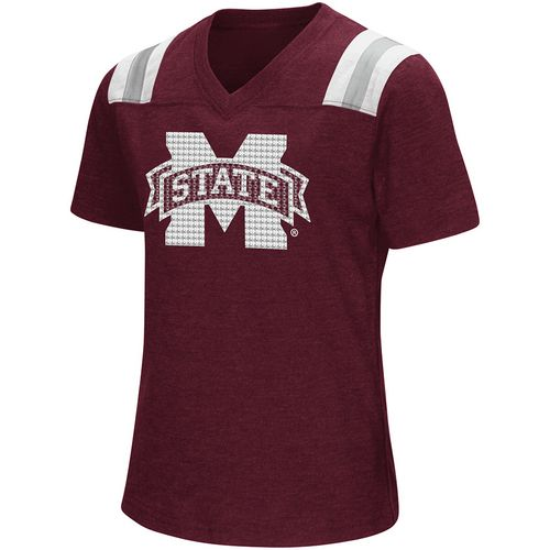 Colosseum Athletics Girls' Mississippi State University Rugby Short Sleeve T-shirt