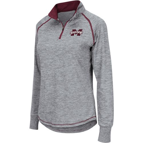Colosseum Athletics Women's Mississippi State University Bikram 1/4 Zip Long Sleeve T-shirt
