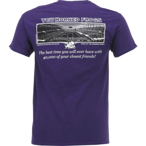 New World Graphics Men's Texas Christian University Friends Stadium T-shirt