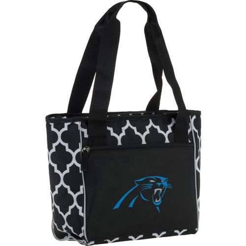Logo Carolina Panthers Quatrefoil 16-Can Cooler Tote - view number 2