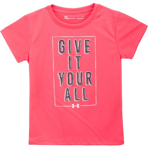Display product reviews for Under Armour Girls' Give It Your All Short Sleeve T-shirt