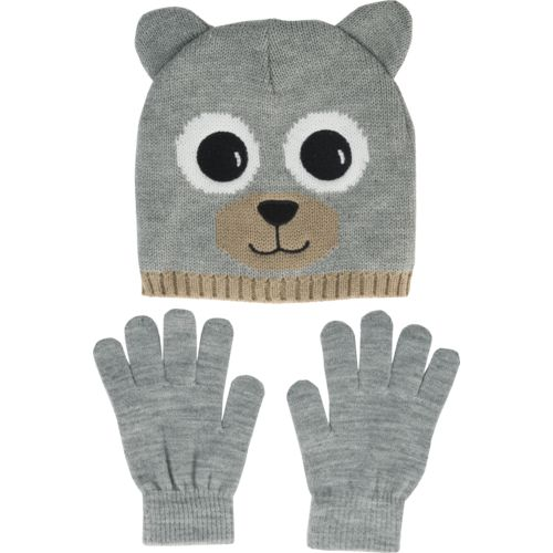 Magellan Outdoors Boys' Bear Critter Hat and Glove Set