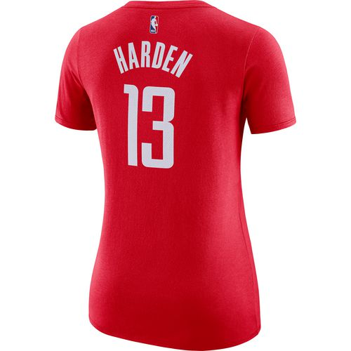 Discount Nike Women's Houston Rockets James Harden 13 Name and Number T-shirt supplier