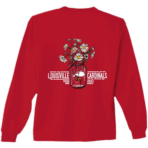 New World Graphics Women's University of Louisville Bouquet Long Sleeve T-shirt