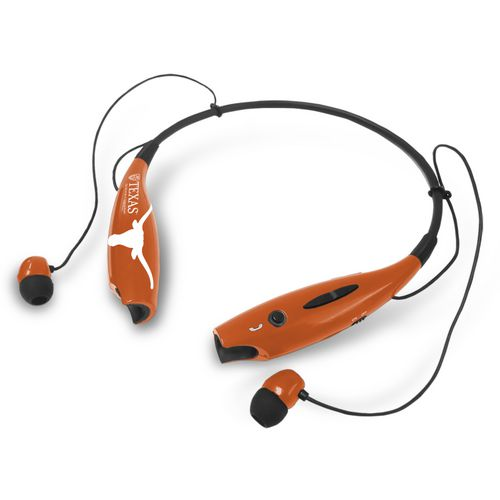 Mizco University of Texas Wireless Bluetooth Neckband Earbuds