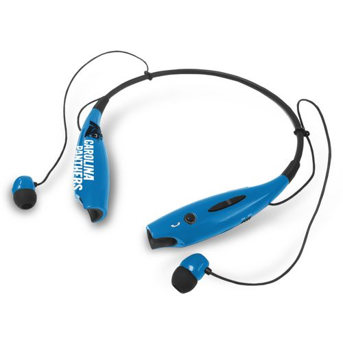 Mizco Carolina Panthers Wireless Bluetooth Neckband Earbuds