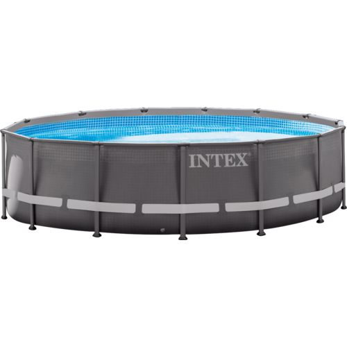 Display product reviews for INTEX 14 ft x 42 in Round Ultra Frame Pool Set