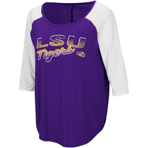 Colosseum Athletics Women's Louisiana State University Draw A Crowd Baseball T-shirt
