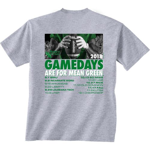 New World Graphics Men's University of North Texas Football Schedule T-Shirt