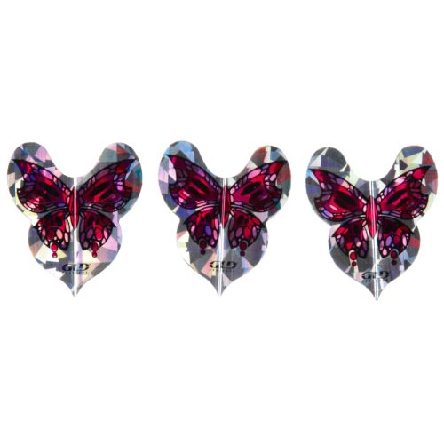FatCat 2-D Glitter Butterfly Dart Flights 3-Pack