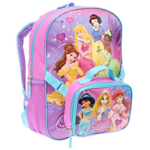 Disney Girls' Princess Backpack with Lunch Kit