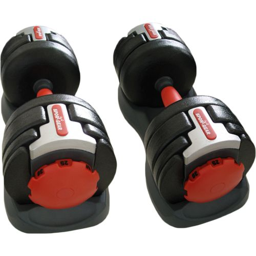 Exertec™ 120 lb. Adjustable Dumbbells Set