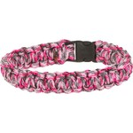Bison Designs Side-Release Small Pink Camo Coreless Paracord Bracelet