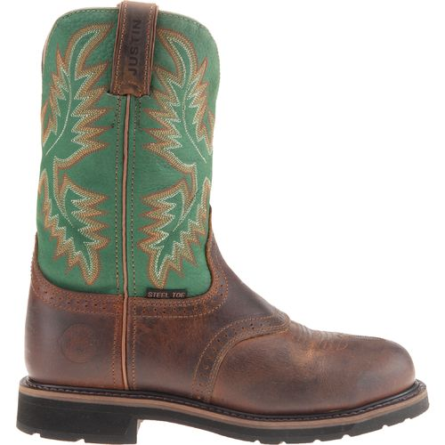 Justin Men's Rugged Steel Toe Western Work Boots