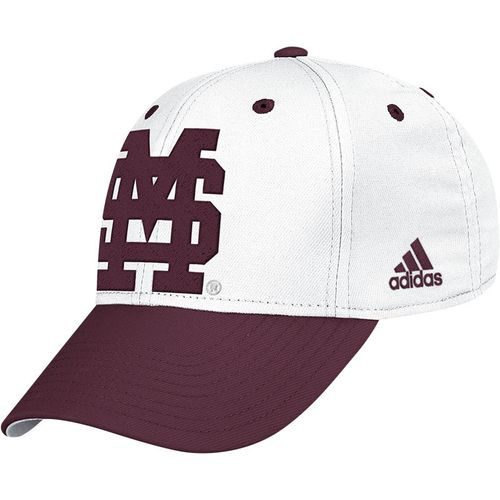 adidas™ Adults' Mississippi State University Wool Pro Shape Flex Fit Cap