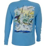 Guy Harvey Men's Island Marlin Long Sleeve T-shirt