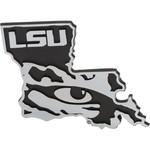 Stockdale Louisiana State University Chrome Metal Auto Emblem