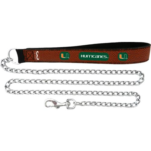 GameWear University of Miami Football Leather Chain Leash