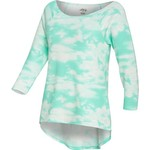 BCG™ Juniors' 3/4 Sleeve Scoop Neck High-Low Print Top