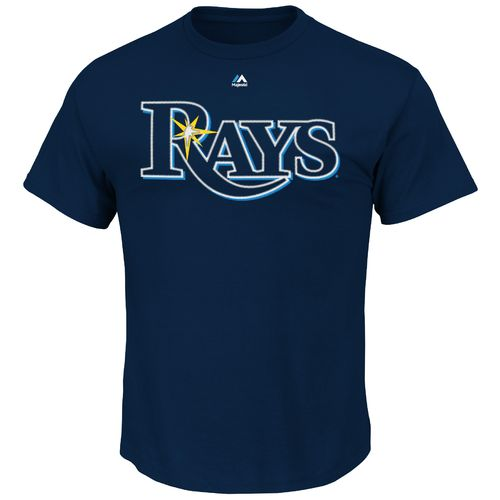 Majestic Men's Tampa Bay Rays Official Wordmark T-shirt