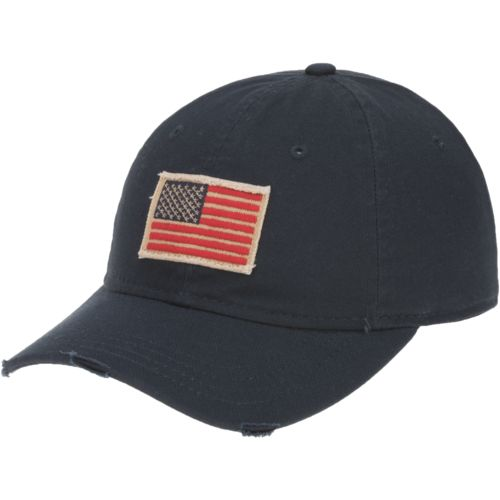 Academy Sports + Outdoors Men's Flag Distressed Baseball Hat