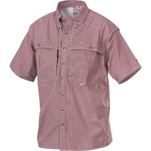 Drake Waterfowl EST Wingshooter's Micro Plaid Button-Down Short