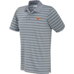Majestic Men's University of Texas Section 101 Heather Stripe Golf Polo Shirt