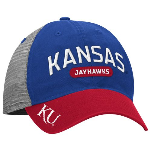adidas™ Men's University of Kansas Adjustable Mesh Back Slouch Cap
