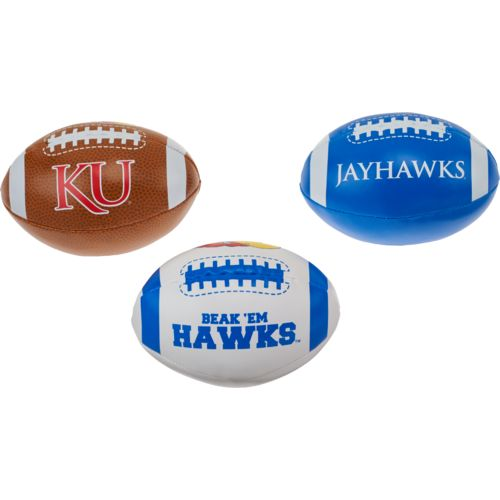Rawlings Boys' University of Kansas 3rd Down Softee 3-Ball Football Set - view number 2